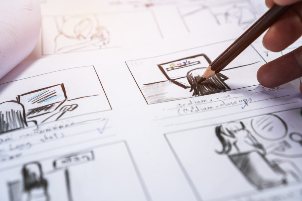 The storyboard will create a visual representation and first draft of the final explainer video